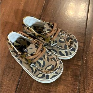 Baby Sperry Cheetah boat shoes